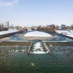 2015年3月の豊平川