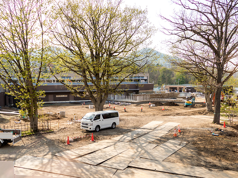 円山動物園、アフリカゾーン工事