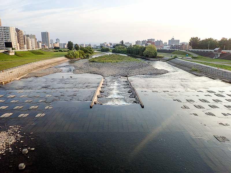 2015年8月9日の豊平川