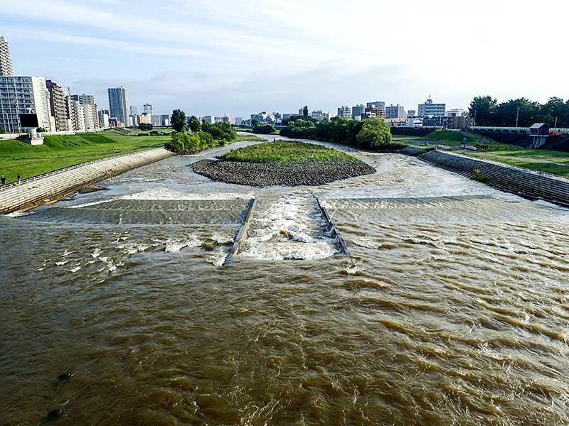 2015年9月3日の豊平川