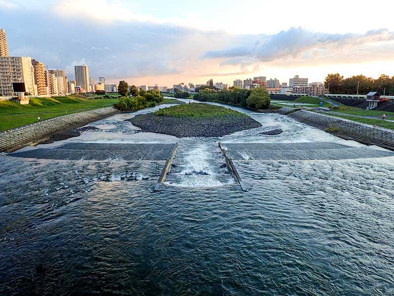 2015年9月5日の豊平川