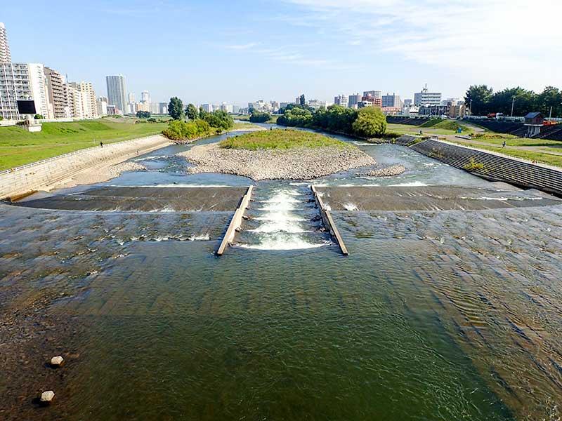 2015年9月8日の豊平川