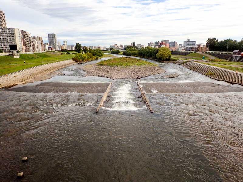2015年9月11日の豊平川