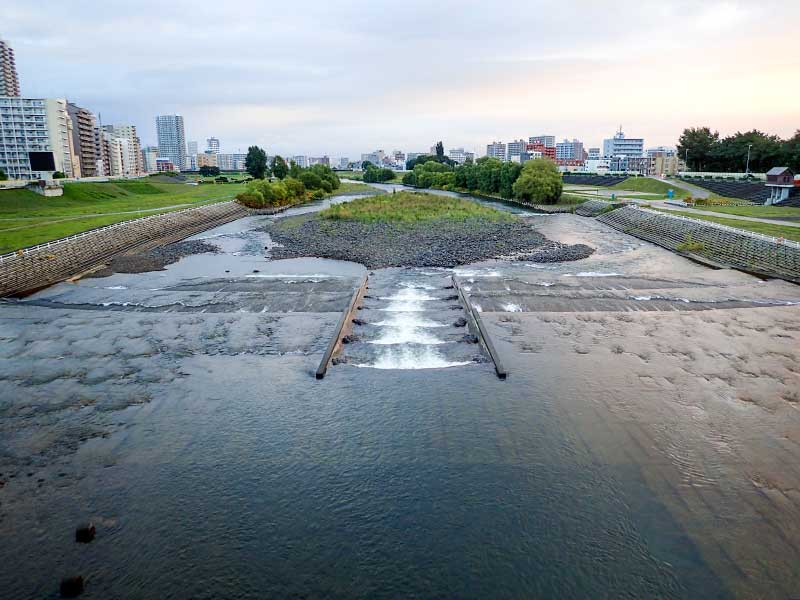 2015年9月12日の豊平川