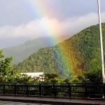 泥よけが必要だと感じたとき大きな虹が