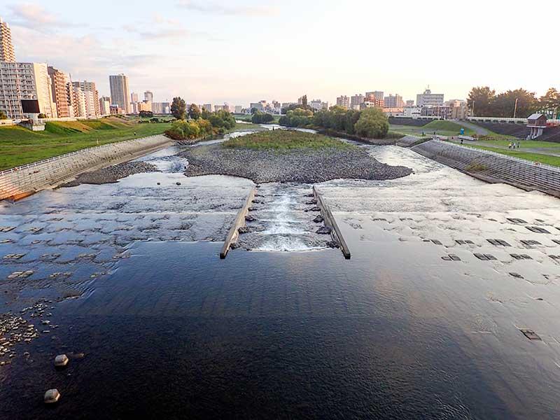 2015年9月21日の豊平川