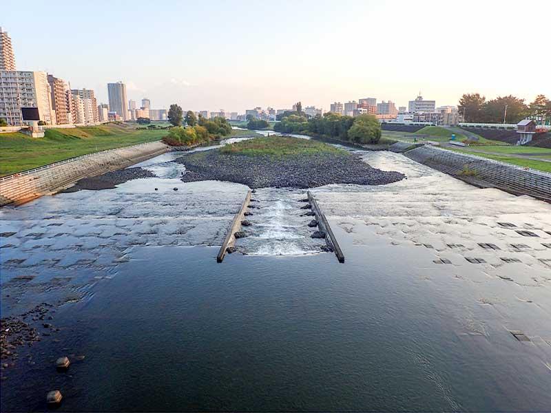 2015年9月22日の豊平川