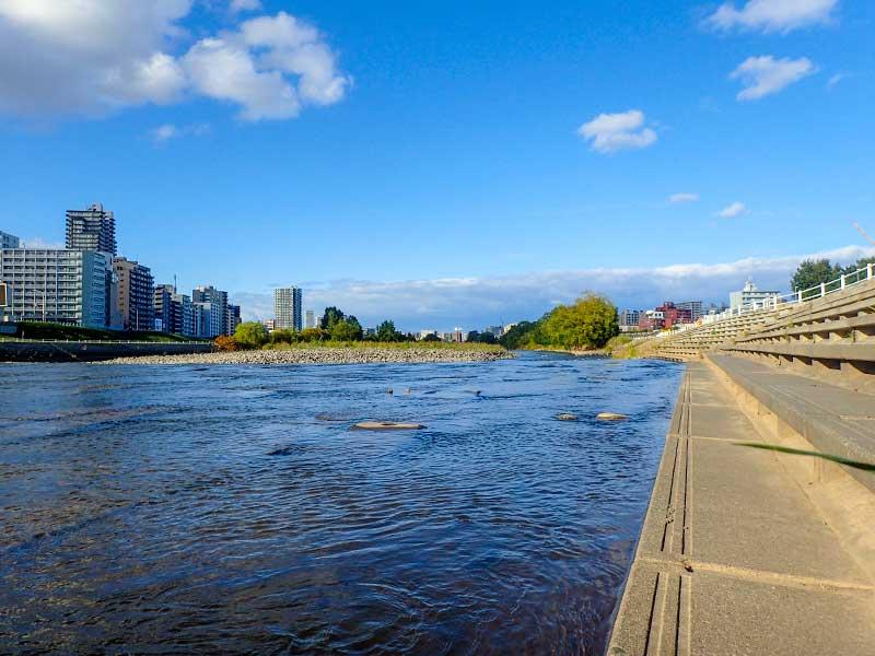 2015年9月30日の豊平川