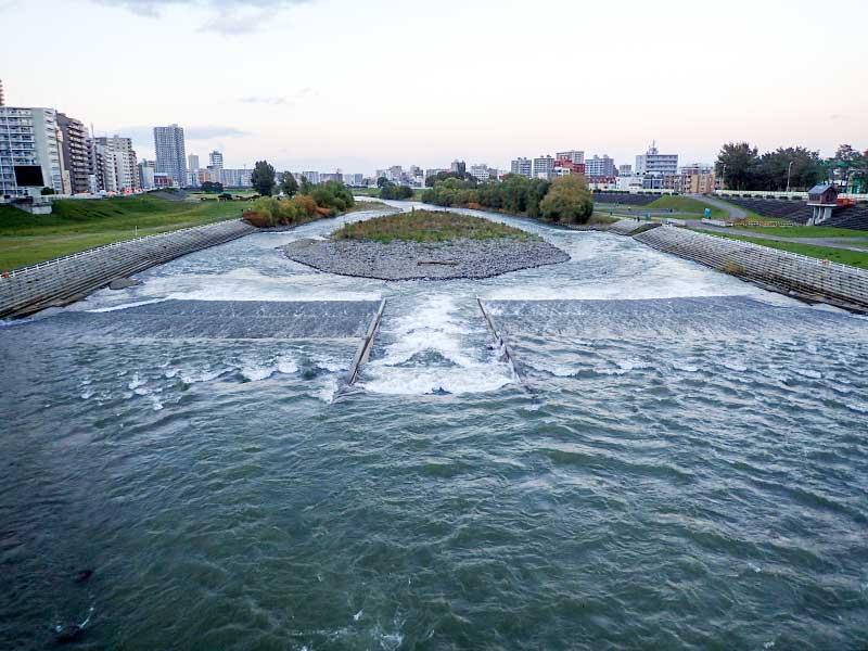 2015年10月10日の豊平川