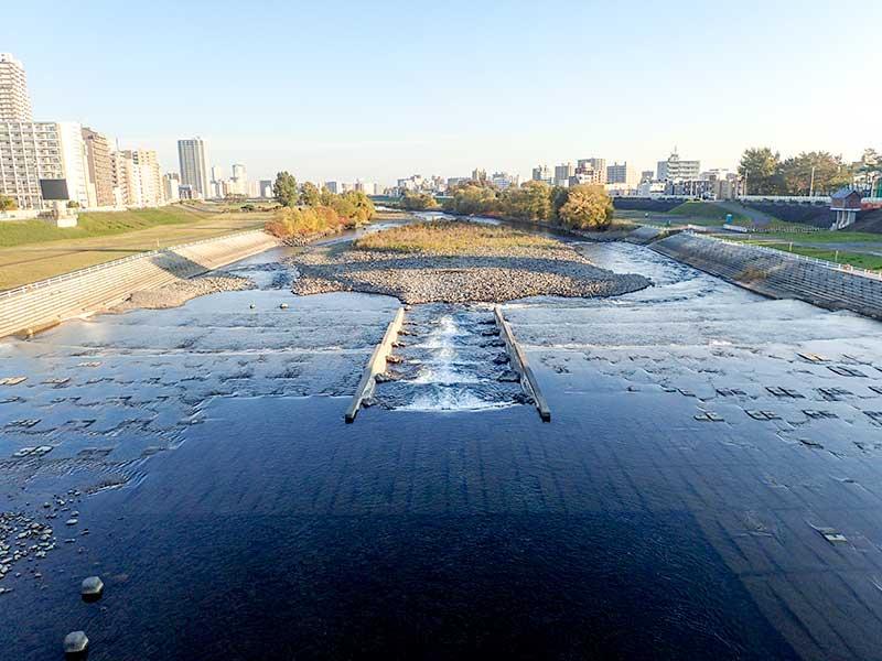 2015年10月23日の豊平川