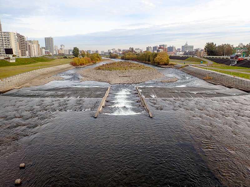 2015年10月27日の豊平川