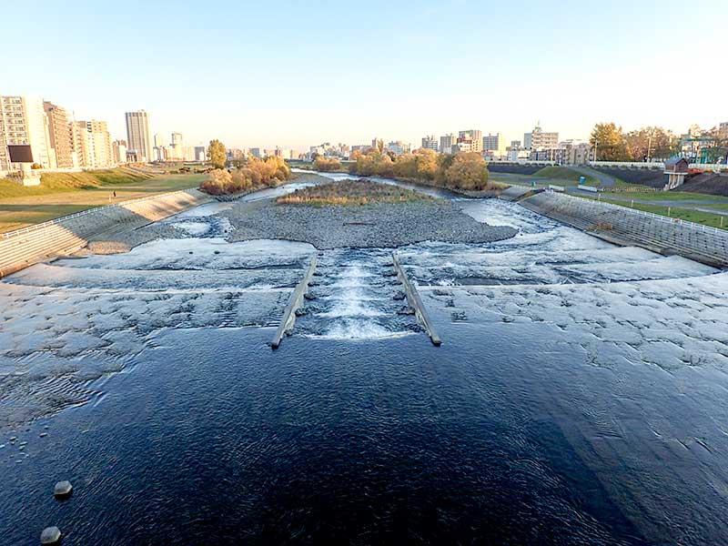 2015年11月4日の豊平川