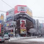 札幌初積雪