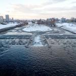 12月6日の豊平川