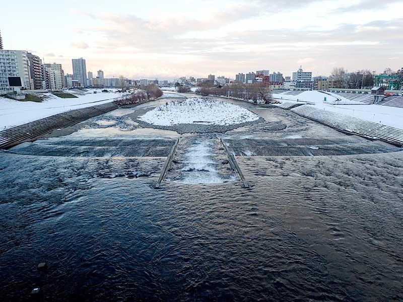 2015年12月6日の豊平川