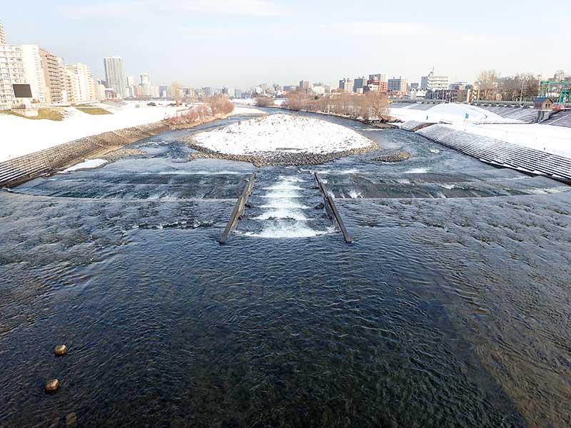 2015年12月10日の豊平川