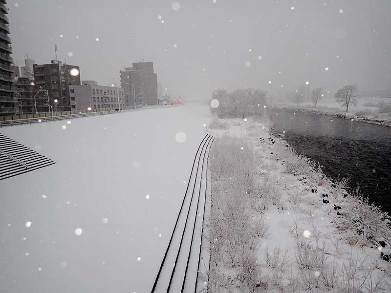 幌平橋から写した豊平川