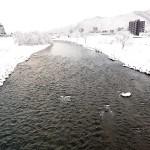 12月18日の豊平川
