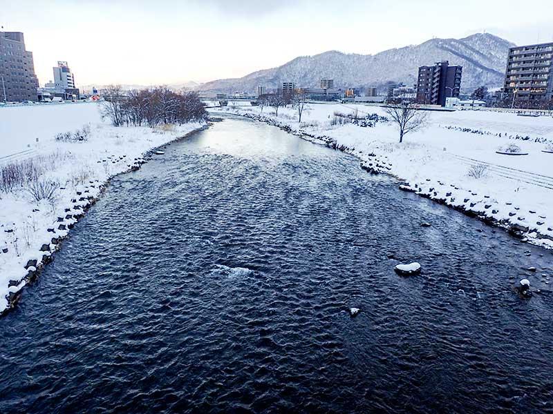 2015年12月19日の豊平川