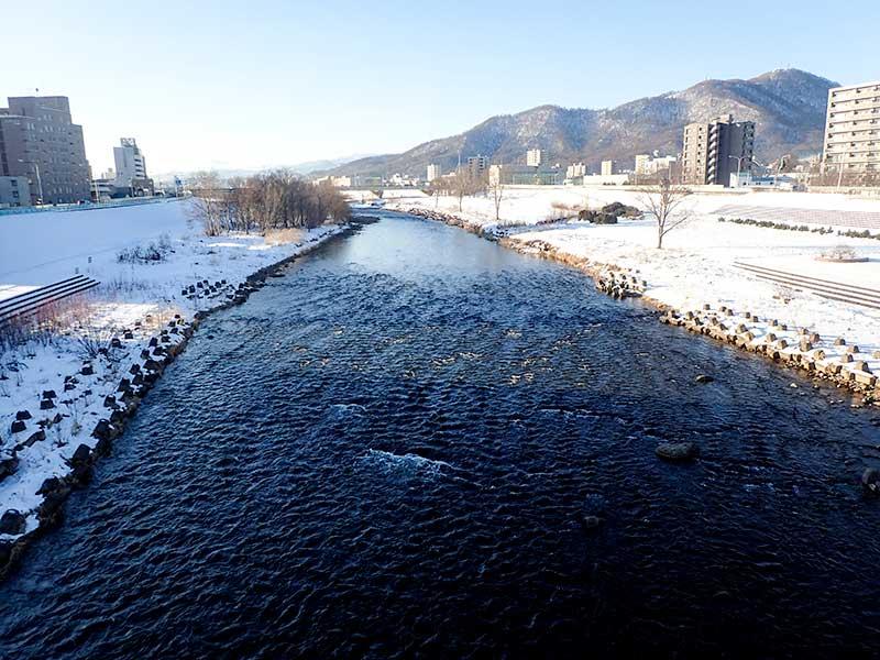 2015年12月23日の豊平川