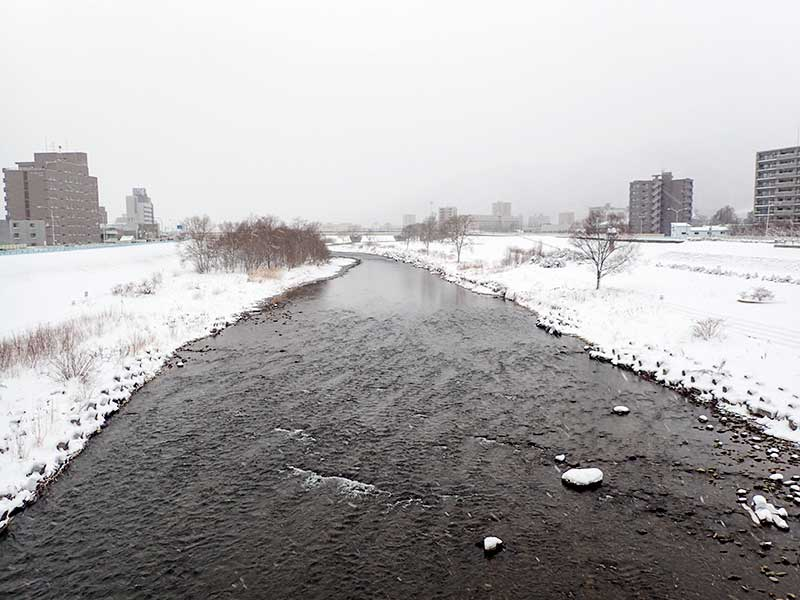 2015年12月26日の豊平川