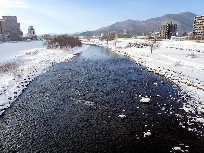 2015年12月30日の豊平川
