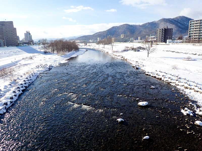 2015年12月31日の豊平川