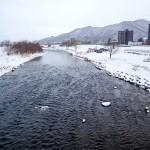 1月2日の豊平川