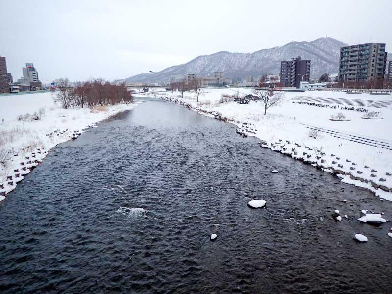 2016年1月2日の豊平川
