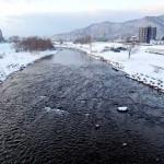 1月3日の豊平川