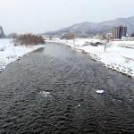 1月5日の豊平川