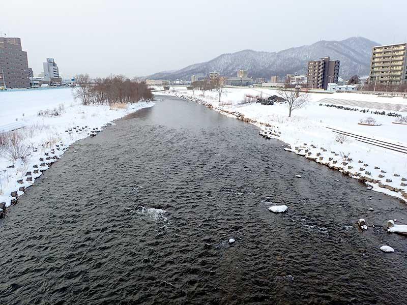 2016年1月5日の豊平川