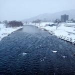 1月6日の豊平川
