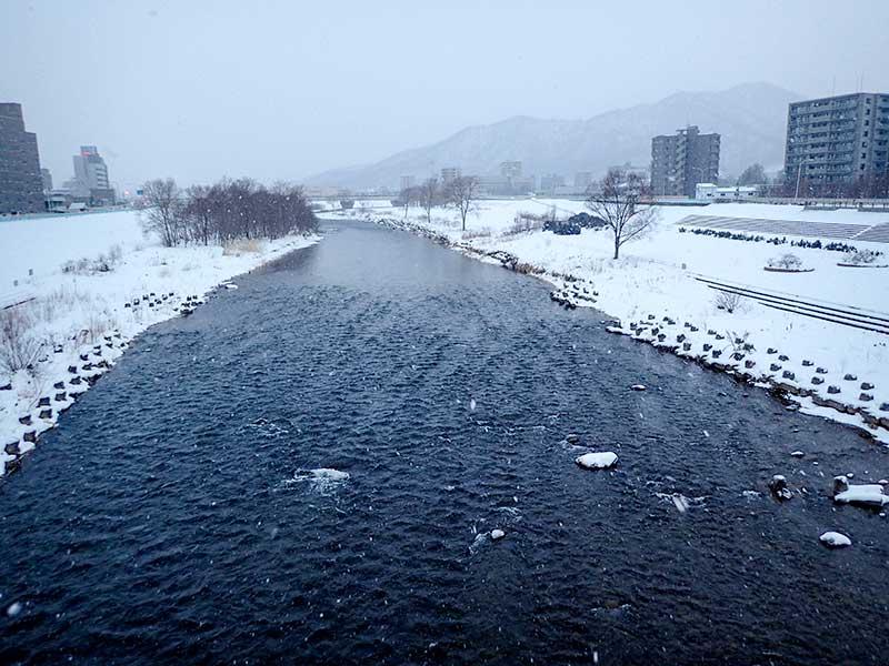 2016年1月6日の豊平川