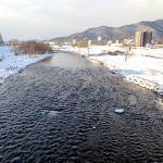 1月7日の豊平川
