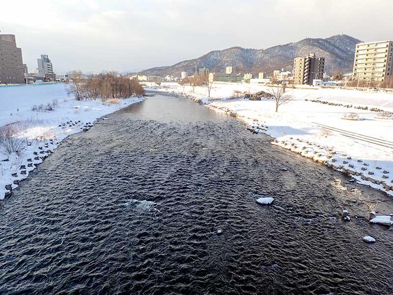 2016年1月7日の豊平川