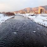 1月9日の豊平川