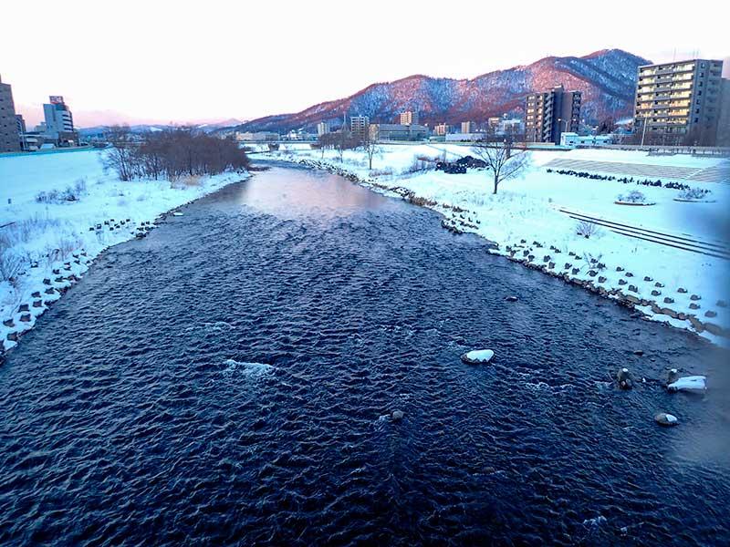 2016年1月11日の豊平川