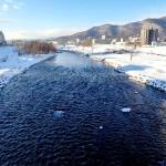 1月16日の豊平川
