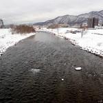 1月18日の豊平川