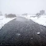 1月21日の豊平川