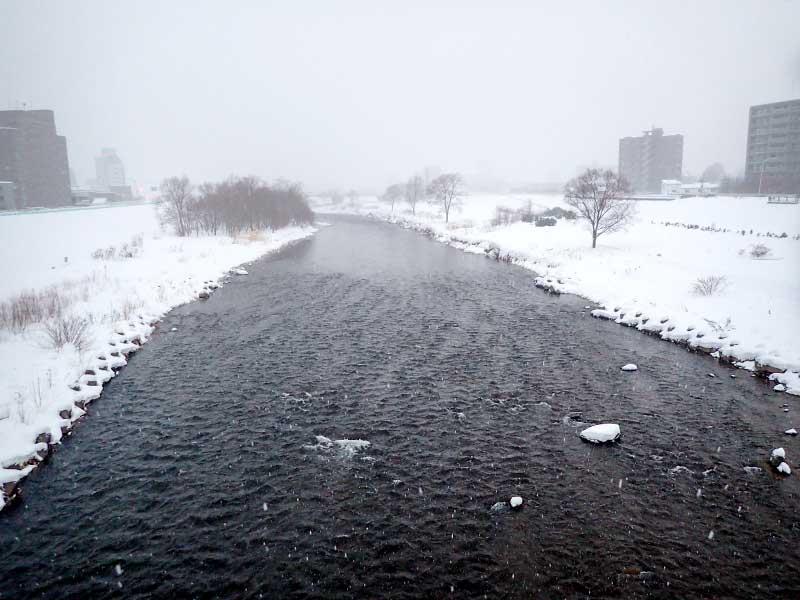 2016年1月21日の豊平川