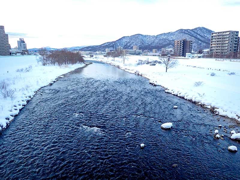 2016年1月23日の豊平川