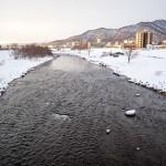 1月25日の豊平川