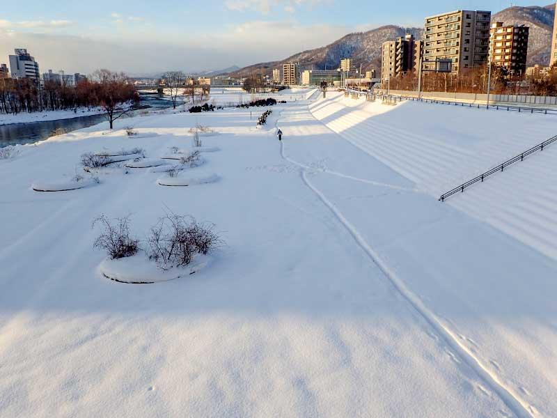 2016年1月29日の豊平川