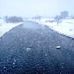 2月9日の豊平川