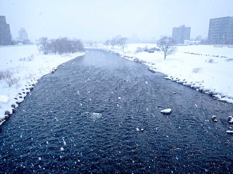 2016年2月9日の豊平川