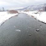 2月13日の豊平川