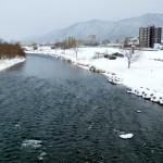2月15日の豊平川