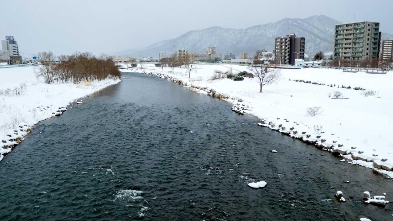 2016年2月15日の豊平川